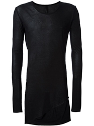 Barbara I Gongini Long Fit Twist T Shirt Black