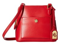 Lauren Ralph Lauren Newbury Bailey Dome Crossbody Red Handbags