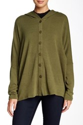 Lulu Hooded Dolman Cardigan Green