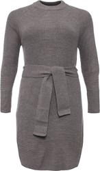 Lost Ink Curve Belted Slouch Jumper Grey