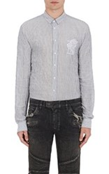 Balmain Men's Logo Embroidered Shirt No Color