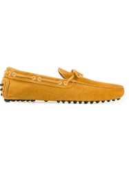 Car Shoe Lace Loafers Yellow And Orange