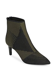 Ash Dream Mesh Knit Ankle Boots Black Army