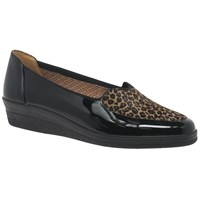 Gabor Blanche Wide Loafers Leopard Black
