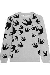 Mcq By Alexander Mcqueen Flocked Cotton Blend Terry Sweatshirt Stone