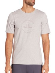 J. Lindeberg Short Sleeve Graphic T Shirt Light Grey Blue