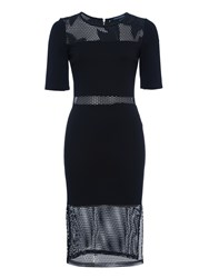 French Connection Floral Cage Dress Black