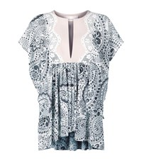 Chloe Daisy Chain Tunic Top Female Ivory