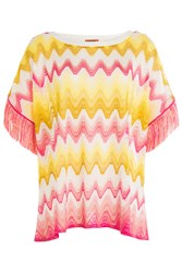 Missoni Mare Knit Tunic Top With Fringing Multicolor