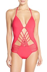 Women's Kenneth Cole New York Push Up One Piece Swimsuit