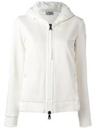 Moncler Padded Back Panel Hoodie White