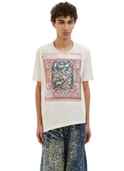 Anntian Tapestry Print T Shirt White