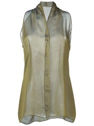 Romeo Gigli Vintage Sleeveless Shirt Yellow And Orange