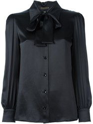 Saint Laurent Pussybow Blouse Black
