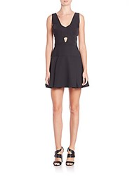 Bcbgmaxazria Harlie Cutout Fit And Flare Dress Black