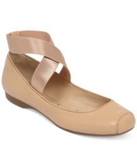 Jessica Simpson Mandalaye Elastic Ballet Flats Women's Shoes Natural