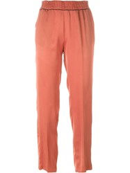 Forte Forte Slim Cropped Trousers Yellow And Orange