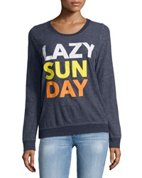 Chaser Lazy Sunday Long Sleeve Fleece Top Avalon