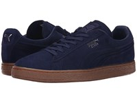 Puma The Suede Emboss Peacoat Gum Men's Shoes Navy