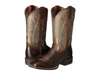 Ariat Round Up Square Toe Yukon Brown Bronze Cowboy Boots