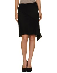 Ann Demeulemeester Skirts Knee Length Skirts Women Black