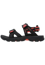 The North Face Hedgehog Ii Walking Sandals Black Radiant Orange