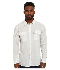 Brixton Memphis Long Sleeve Woven Off White Men's Long Sleeve Button Up Beige