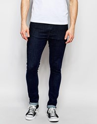 Nudie Jeans Pipe Led Stretch Super Skinny Fit Eclipse Blue Top Overdye Blue