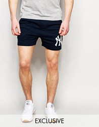 Majestic Yankees Retro Shorts Navy