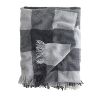 J.Crew Cashmere Blanket Charcoal Grey