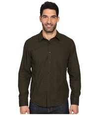 Prana Lukas Shirt Dark Olive Men's Long Sleeve Button Up