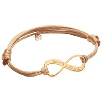 Merci Maman 18Ct Gold Plated Personalised Infinity Bracelet