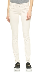 Genetic Los Angeles Stem Mid Rise Skinny Jeans Winter White