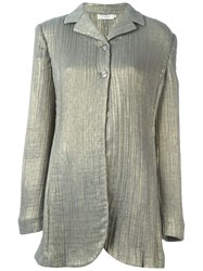 Romeo Gigli Vintage Metallic Jacket Nude And Neutrals