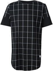 Stampd Checked Print T Shirt Black