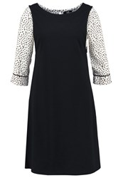 Wallis Jersey Dress Black White