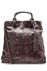 Henry Beguelin Leather Tote With Embellished Tassel Gr. One Size