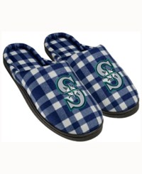 Forever Collectibles Seattle Mariners Flannel Slide Slippers Navy