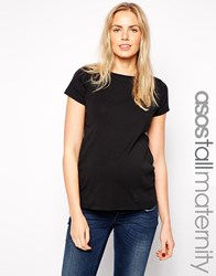 Asos Maternity Tall Crew Neck Tee Black