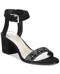 Styleandco. Style Co. Mullaney Ankle Strap Embellished Sandals Only At Macy's Women's Shoes Black