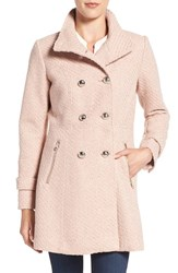 Jessica Simpson Women's Fit And Flare Officers Coat Rose