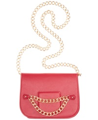 Rampage Crossbody With Chain Strap Red