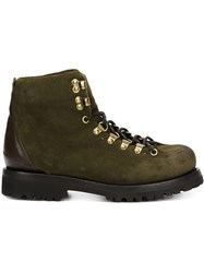 Buttero 'Canalone' Lace Up Boots Green