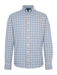 Paul Costelloe York Check Cotton Tailored Shirt Blue
