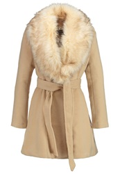 Lipsy Classic Coat Neutral Sand