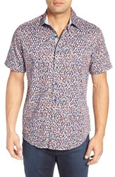 Robert Graham Men's Big And Tall Mohave Classic Fit Print Sport Shirt