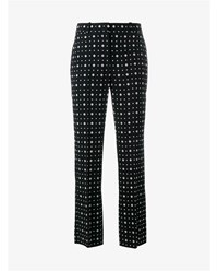 Givenchy Floral And Star Print Trousers Black White Red