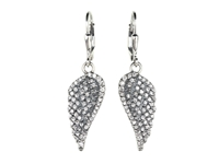 King Baby Studio Small Cz Pave Wing Leverback Earrings