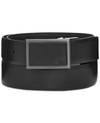 Kenneth Cole Reaction 32Mm Reversible Fe Matte With Shine Plaque Buckle Dress Belt Black Blac