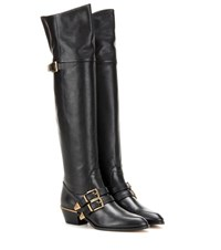 Chloe Leather Over The Knee Boots Black